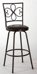 Designer's Image™ Whitaker Adjustable Height Swiveling Metal Barstool