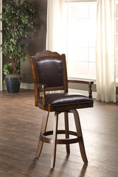 "Nassau 30.5"" Seat Height Swivel Leather Game Bar Stool"