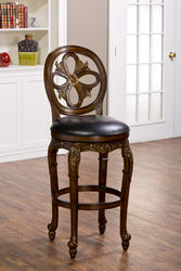 "Rosalee 30"" Seat Height Swivel Bar Stool"