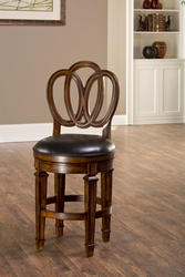 "Dover 24"" Seat Height Counter Stool with Leather Seat"