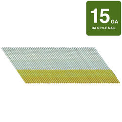 "Hitachi 2-1/2"" 15-Gauge Angled Finish Nails - 1000 Count"