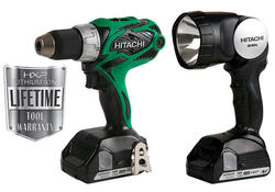 "Hitachi 18-Volt 1/2"" Cordless Lithium-Ion Drill and Work Light Kit"