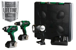 Hitachi® 18-Volt Lithium-Ion 3-Tool Combo Kit