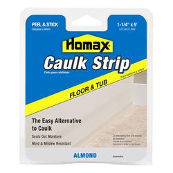 """Homax 1-1/4"""" x 5' Almond Floor & Tub Caulk Strip"""