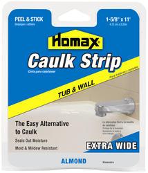 """Homax 1-5/8"""" x 11' Almond Tub & Wall Caulk Strip"""