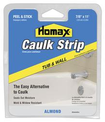 """Homax 7/8"""" x 11' Almond Tub & Wall Caulk Strip"""