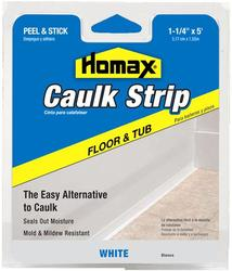 "Homax 1-1/4"" x 5' White Floor & Tub Caulk Strip"