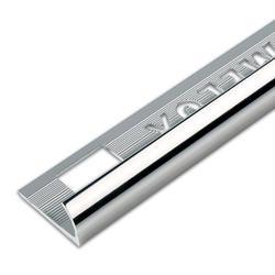 "Homelux Round Edge Tile Trim - Silver 1/2"" x 72"""