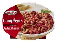 Hormel Compleats Homestyle Spaghetti and Meat Sauce - 10-oz Microwave Bowl