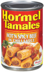 Hormel Hot'N Spicy Beef Tamales in Chili Sauce - 15 oz