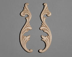 "1-3/4"" x 9-3/4"" Birch Left and Right Scroll Accent Moulding"