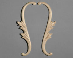 """2-1/2"""" x 11-1/2"""" Birch Left and Right Scroll Accent Moulding"""