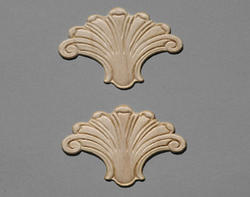 "3"" x 3-1/2"" Birch Shell Accent Moulding (Set of 2)"