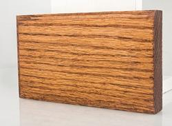 "3-1/2"" x 6"" Prefinished English Chestnut Oak Plinth Block"