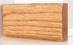 """2-1/2"""" x 5"""" Prefinished Golden Oak Oak Plinth Block"""