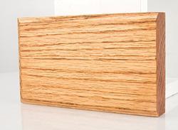 """3-1/2"""" x 6"""" Prefinished Golden Oak Plinth Block"""