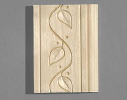 "1/2"" x 3"" x 8' Hardwood Casing Base with Vine Pattern"