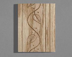 """1/2"""" x 3"""" x 8' Oak Casing Base with Vine Pattern"""
