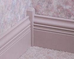 "1"" x 1"" x 6"" Pine Inside Corner Base Block Moulding"