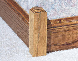 "1-1/4"" x 1-1/4"" x 6"" Oak Outside Corner Base Block Moulding"