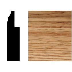 House of Fara® 8' Solid Red Oak Base Moulding