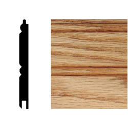 """House of Fara® 96"""" Solid Red Oak Tongue and Groove Planking"""