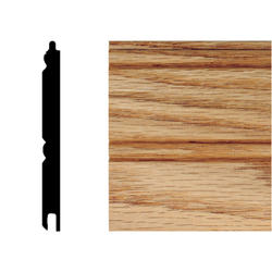 "House of Fara® 32"" Solid Red Oak Tongue and Groove Wainscot"