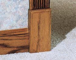 """7/8"""" x 2-1/2"""" x 5"""" Oak Plinth Block Moulding"""