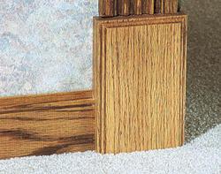 """7/8"""" x 3-1/2"""" x 6"""" Oak Plinth Block Moulding"""