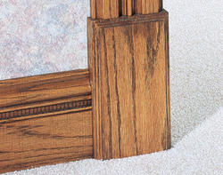"7/8"" x 4-1/2"" x 8"" Oak Plinth Block Moulding"