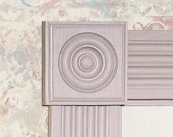 "7/8"" x 3-1/2"" Pine Rosette Block Moulding"