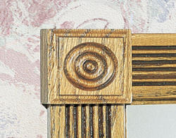 "7/8"" x 2-1/2"" Oak Rosette Block Moulding"