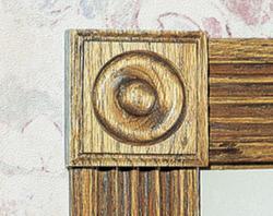 """7/8"""" x 3-1/4"""" Oak Rosette Block Moulding"""