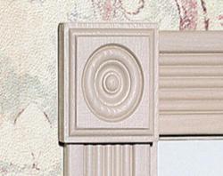"7/8"" x 2-1/2"" Pine Rosette Block Moulding"