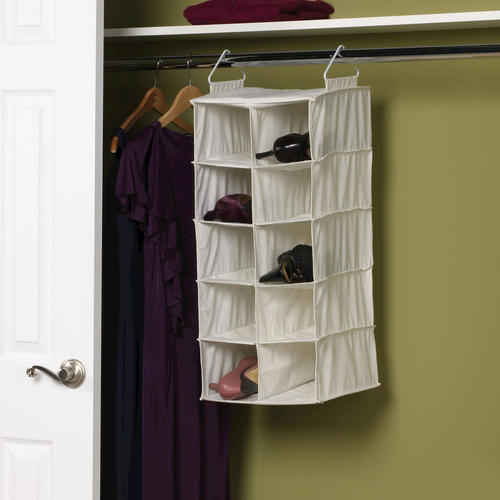 household essentials 174 10 pocket wide hanging shoe