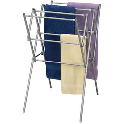 Satin Silver Indoor Expandable Dryer