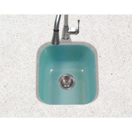 Porcelain Enameled Steel Undermount Square Bar Sink
