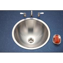 "Opus topmount lavatory bowl, 6.125""deep, 18ga, Satin"