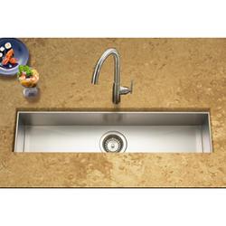 """Contempo® zero-radius trough bar/prep sink 6"""" deep 18ga"""