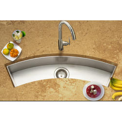 "Contempo® zero-radius trough bar/prep sink 6"" deep 18ga"