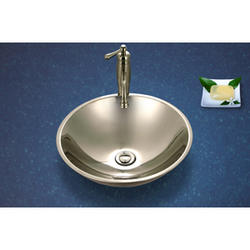 "Club lavatory vessel sink, 4.625""deep, 19ga"