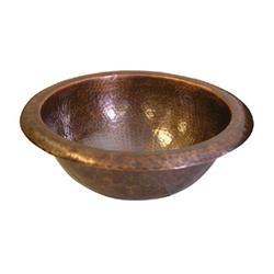 "Hammerwerks® Copper Topmount Lavatory Bowl, 4.625""deep"