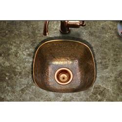 "Hammerwerks® Copper Drop-in Bar Prep Sink, 6.875""deep"