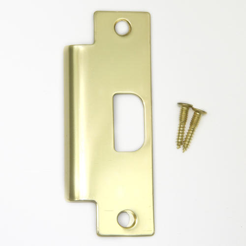 Polished Brass Door Lock Strike Plate At Menards