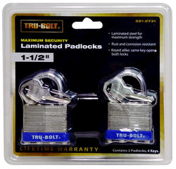 "1-1/2"" Laminated Padlock (2-Pack)"