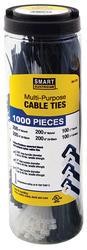 Smart Electrician 1,000-Piece Multi-Purpose Cable Tie Jar