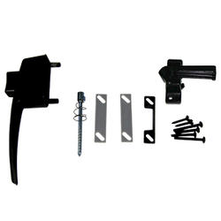 Black Solid Strike Storm Door Latch