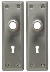 Satin Nickel Escutcheon Plates