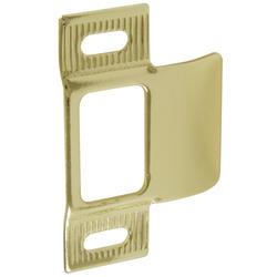 Brass-Plated Adjustable Strike Plate