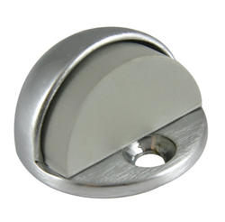 "Chrome-Plated Brass Floor-Mounted Door Stop with 1/8"" Offset"